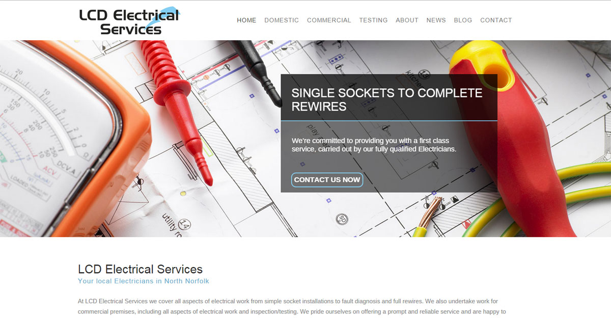 LCD Electrical Services - Simon Hiscox Website Design
