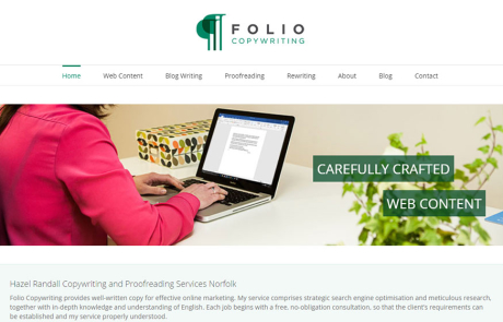 folio copywriting