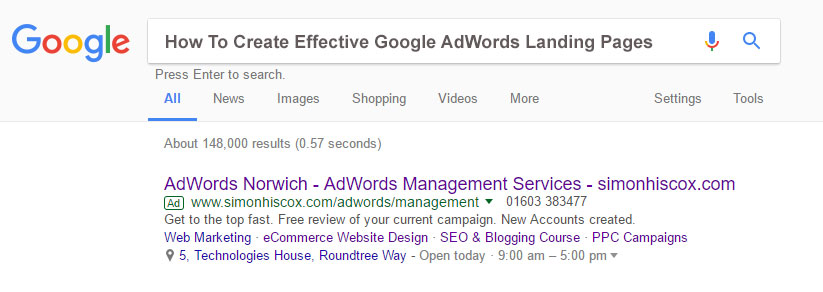 How To Create Effective Google AdWords Landing Pages